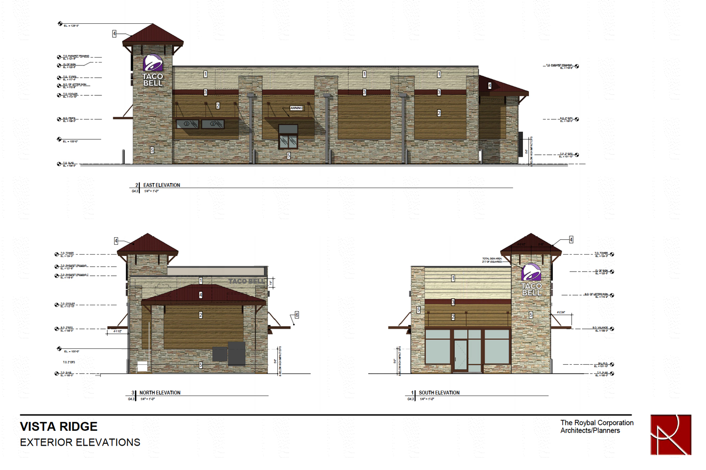Taco Bell Vista Ridge Elevations