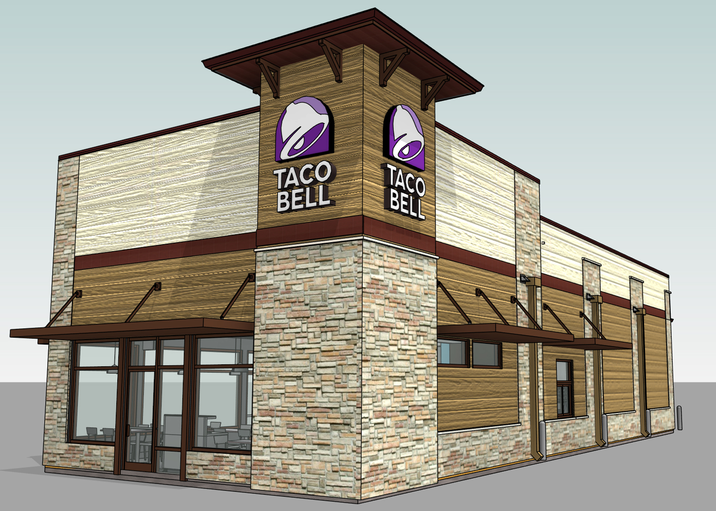 Taco Bell Vista Ridge Render